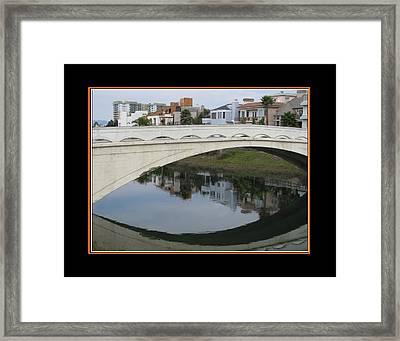 Ballona Creek Bridge Framed Print by Alvin Glass