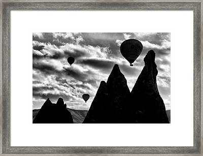 Framed Print featuring the photograph Ballons - 2 by Okan YILMAZ