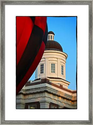 Framed Print featuring the photograph Balloon And Dome Of The Canton Courthouse by Jim Albritton