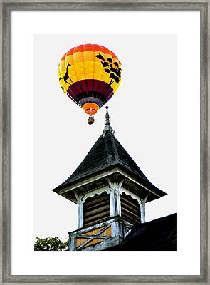 Framed Print featuring the photograph Balloon By The Steeple by Rick Frost