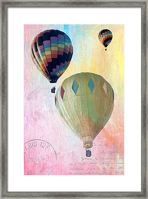 Framed Print featuring the photograph Balloon Flight by James Bethanis