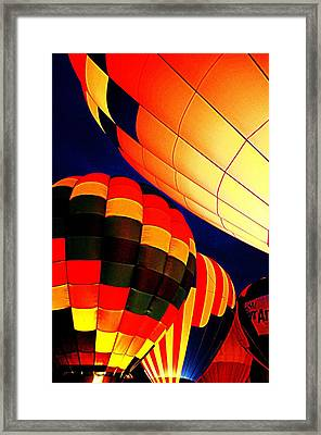 Balloon Glow 1 Framed Print by Marty Koch