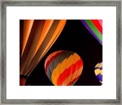 Balloon Glow  Framed Print by Carol Norman