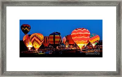 Balloon Glow Framed Print by Mark Dodd