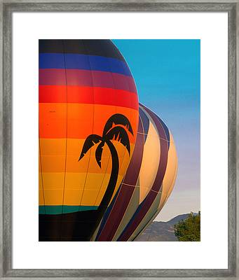 Balloon Launch Framed Print by Carol Norman