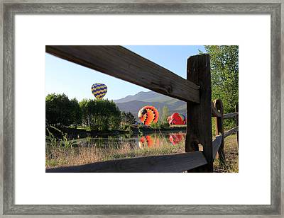 Balloon Launch-ridgway 2012 Framed Print