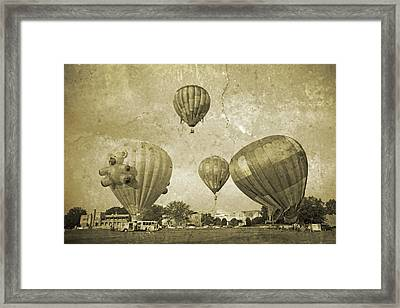 Balloon Rally Framed Print by Betsy Knapp