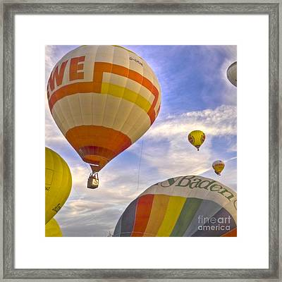 Balloon Ride Framed Print by Heiko Koehrer-Wagner