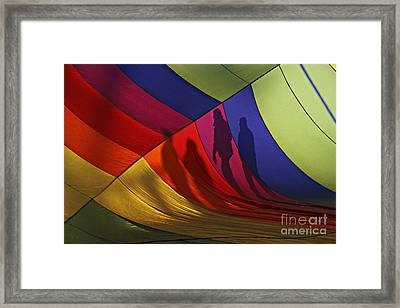 Balloon Shadows Framed Print