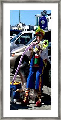 Balloon Vendor Framed Print