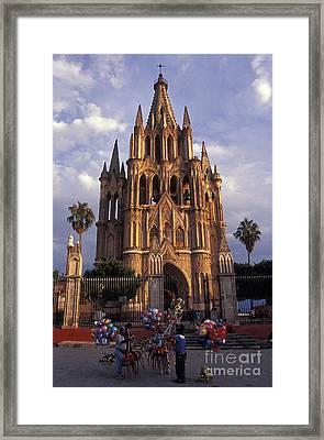 Balloon Vendors San Miguel De Allende Mexico Framed Print