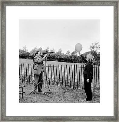 Balloon Viewing Framed Print by Harry Kerr