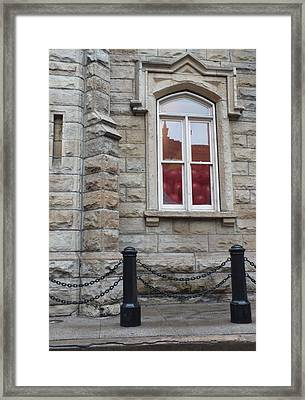 Balloons In The Window Framed Print