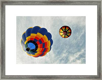 Framed Print featuring the photograph Balloons On The Rise by Rick Frost