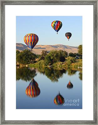 Balloons Over Horse Heaven Framed Print by Carol Groenen