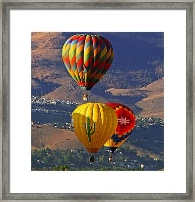 Balloons Over Reno Framed Print