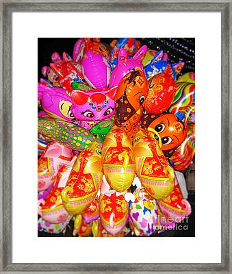 Balloons Framed Print by Thanh Tran