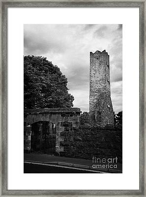 Ballymoney Old Church Tower And Graveyard From The 17th Century County Antrim Northern Ireland Framed Print
