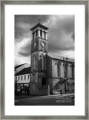 Ballymoney Town Clock Tower And Masonic Hall County Antrim Northern Ireland Framed Print