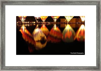 Baloominaria Reflections Framed Print by Tina Karle