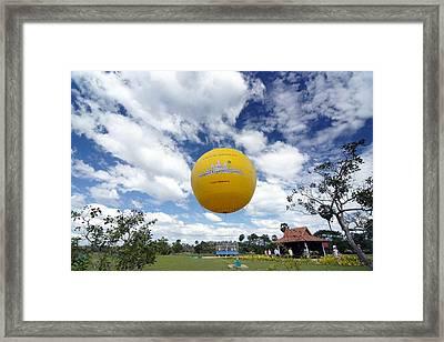Baloon Framed Print by Arik S Mintorogo