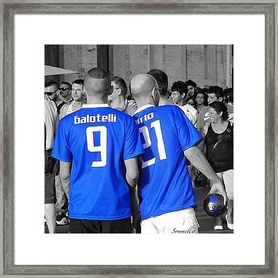Balotelli E Pirlo, Gaypride 2012 Framed Print