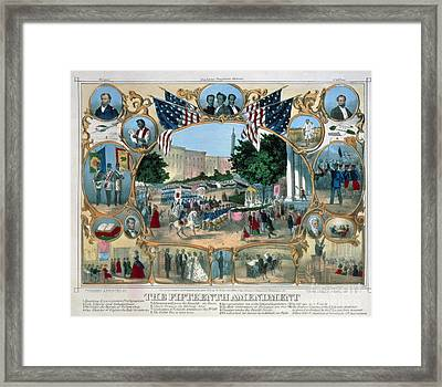 Baltimore: 15th Amendment Framed Print
