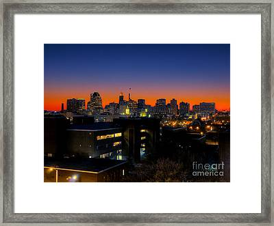 Framed Print featuring the photograph Baltimore At Sunset by Mark Dodd
