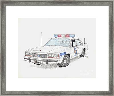 Baltimore County Police Car Framed Print by Calvert Koerber