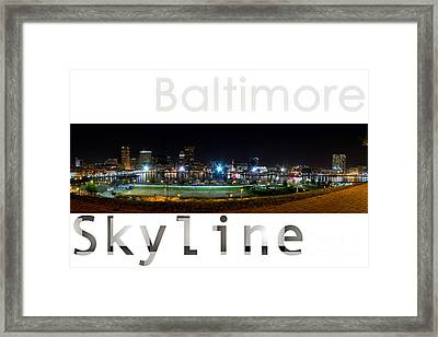 Baltimore Downtown Framed Print by Syed Aqueel