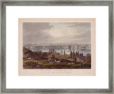 Baltimore Federal Hill Framed Print by Charles Shoup