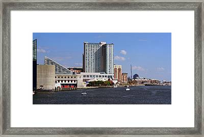 Baltimore Harbor Framed Print by Karen Harrison