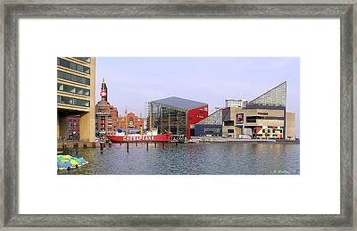 Baltimore Inner Harbor Framed Print