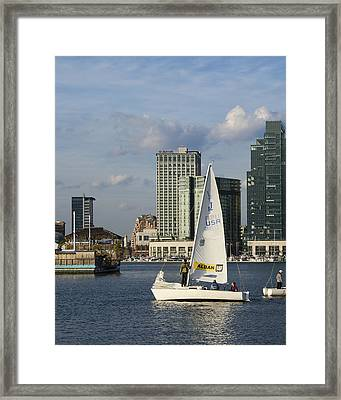 Baltimore Sail Boat - Maryland Framed Print by Brendan Reals