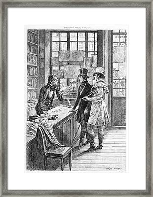 Balzac: Illustration Framed Print by Granger