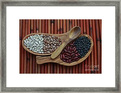 Bamboo And Beans Framed Print by Inspired Nature Photography Fine Art Photography