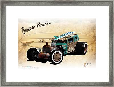 Bamboo Bomber Framed Print