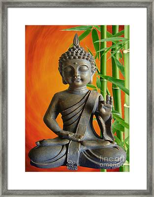 Bamboo Buddha Framed Print by Sandra Beikirch