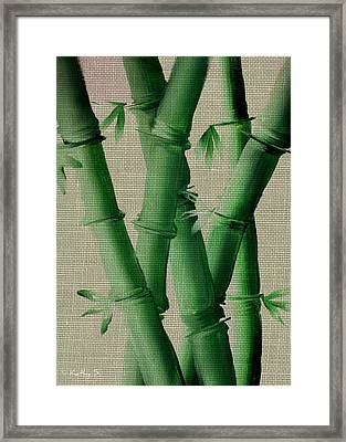 Framed Print featuring the painting Bamboo Cloth by Kathy Sheeran
