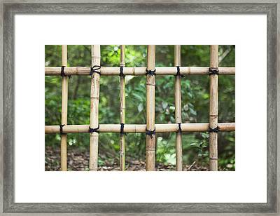 Bamboo Fence Detail Meiji Jingu Shrine Framed Print by Bryan Mullennix