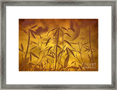 Bamboo Garden II Framed Print by Angela Doelling AD DESIGN Photo and PhotoArt