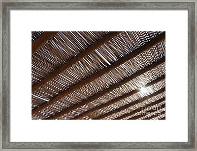 Bamboo Roof Framed Print by Jeremy Woodhouse