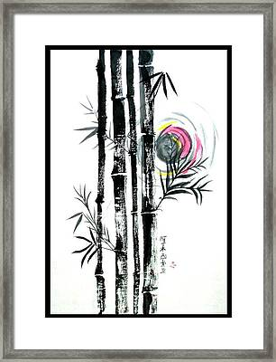 Framed Print featuring the painting Bamboo Sunset by Alethea McKee