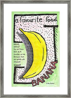 Framed Print featuring the drawing Banana by Ana Tirolese