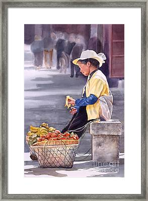 Banana Break Framed Print by Sharon Freeman