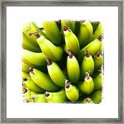 #banana #fruit #iphonephoto Framed Print