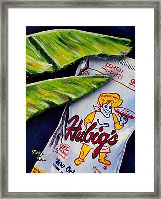 Banana Leaf Series-hubigs Pie Framed Print by Terry J Marks Sr