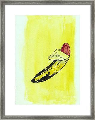 Banana Framed Print by Tom Evans