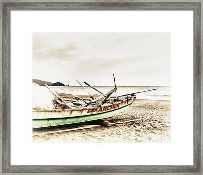 Banca Boat Framed Print by Skip Nall