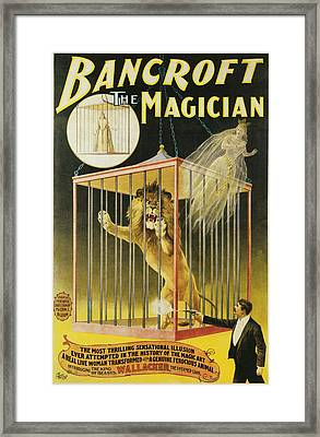 Bancroft The Magician Framed Print by Unknown
